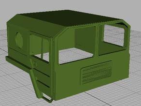 MAN Truck body shell canopy carro 8x8 crawler RC4WD Axial Tamiya