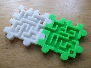 3D Modular Snap Puzzle Mazes