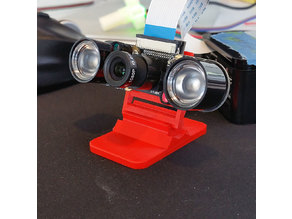 Tilt-Adjustable Raspberry Pi Camera Mount