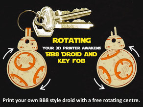 Rotating BB8 Droid and BB8 Key Fob