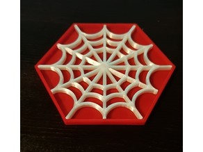 Spider's Web Coasters Split into 2 Stl Files