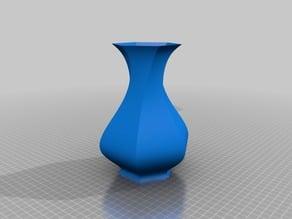 Classic hexagonal twisted vase