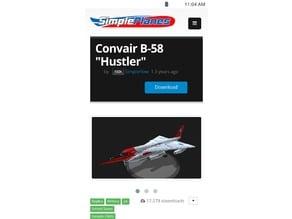 SimplePlanes B-58 Hustler