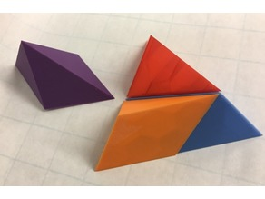 Tetrahedron, Puzzle, Triangular Pyramid, Dissection, Four Pentahedra