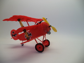 3D pen: Red Baron DR1 airplane