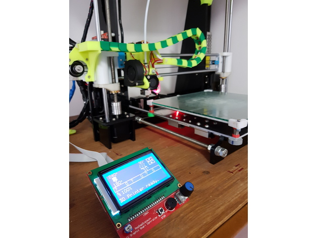 LCD 12864 RepRap Discount Anet A8 Adapter by mshonak
