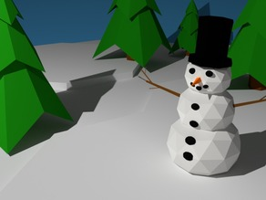 LoPoly Snowman