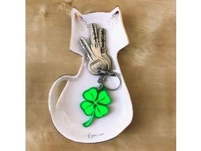 Bimaterial keychain clover / Porte-clés trèfle bi-matériaux