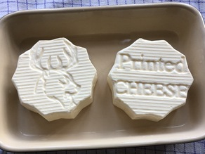 Cheese Mold, Flipable with strainer and print