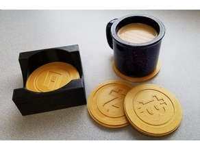 Bitcoin Coasters - Cryptocurrency Coasters