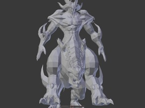 Badass Demon Optimized For 3D Printing