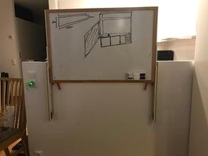 White board half wall mount