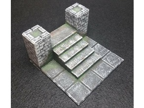 DnD Castle Ravenloft - Start Tile Stairs