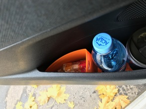 Car door trash can