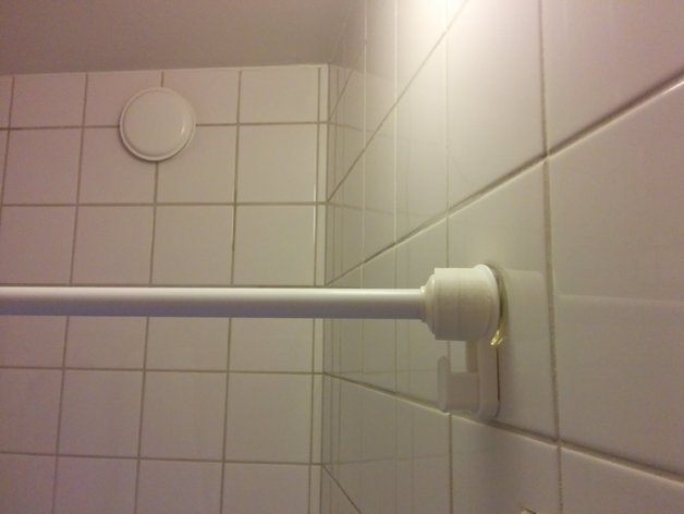 Angled Mount For Shower Curtain Rod