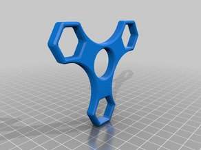 M12 nut - 3 Sided Hex Fidget Spinner - Long arms