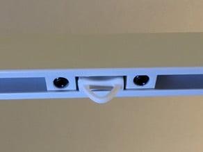 IKEA VIDGA curtain rail glider arrester/blocker
