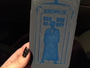 Doctor Who Iphone 6 case - dual extrusion