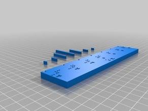 Ruler - z -3 to 3 Braille español