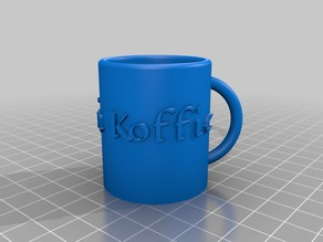 My Customized Parametric Mug with label - changable fonts