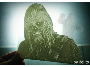 Chewbacca lithophane
