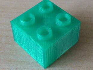 Duplo compatible brick with internal support structures for easy printing