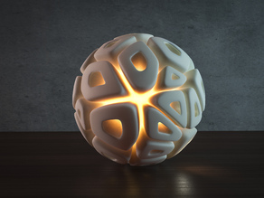 Generative design. Voronoi sphere lamp (LQ) version.