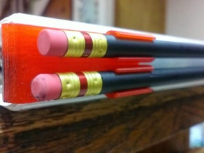 Pencil clip for 3 ring binder