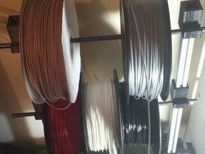 Multi-filament spool rack