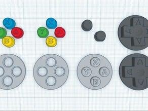 PiGRRL 2 Enhanced Buttons (ABXY/Action, D-Pad)