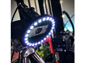 Bluetooth Neopixel Ring Light for Logitech Webcams