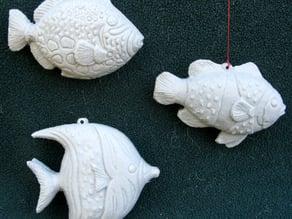 Three Fish Ornaments