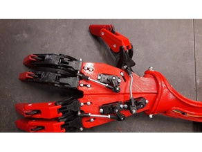 robotic hand servo controlled fingers