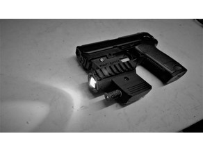 airsoft laser/lamp picatinny mount for usp 45 (cm125 aep)