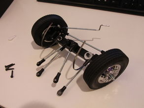 Printed truck V1: Front axle