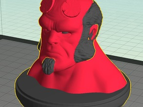 Hellboy Dual Extrusion Bust