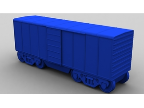 Train Boxcar - 32mm scale / S-Gauge
