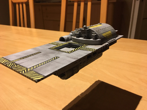 "Flattop Ship (3/3) ""Hephaestus "" from Galactica ragtag fleet"