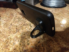 Smartphone swivel kick stand and finger ring