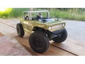 SCX24 Deadbolt Bumper, lower rear body mount and lower battery tray