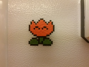 Pixel Fire Flower (Magnet or Pin) - Super Mario World