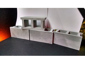 1:3 Scale Concrete Cinder Block