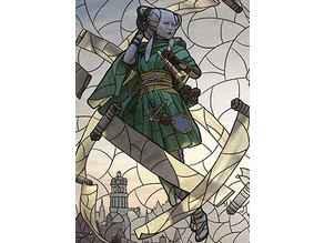 Tamiyo, Collector of Tales - stained glass - litho