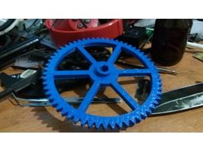 Lyman extruder gear for bit with 12mm hex center Final version