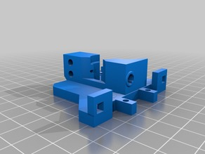 Micromake C1 Effector plate Extruder Adapter