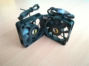 60mm fans joint 90 degrees
