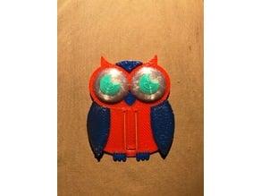 Multi Colored Owl Bookmark Remix