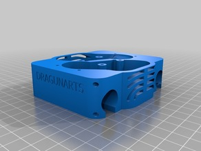 Dual E3D v6/ Jhead Hotend Mount V 3.1 | X Carriage for Makerbot Replicator, CTC Bizer and co.