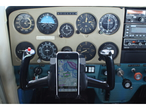 Iphone Yoke Mount for Cessna 150