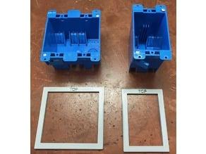 Carlon Electrical Box Templates Single & Dual Gang